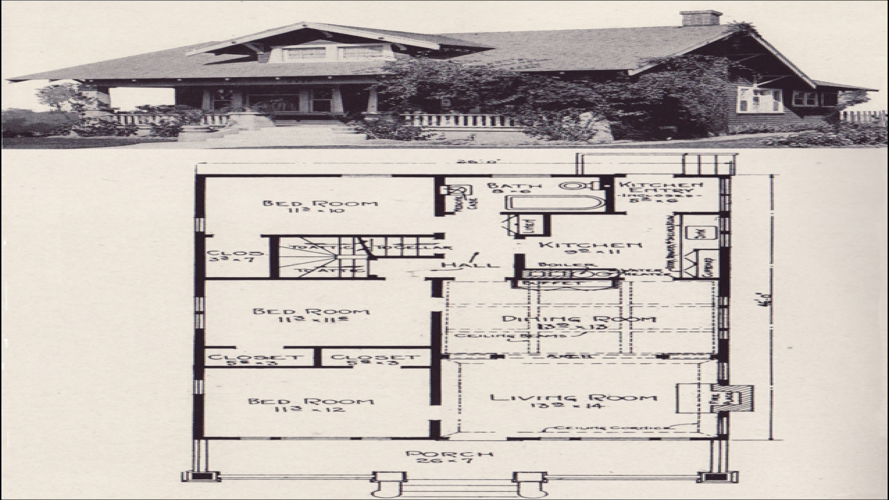 Bungalow House Plans This Vintage Bungalow House Plans