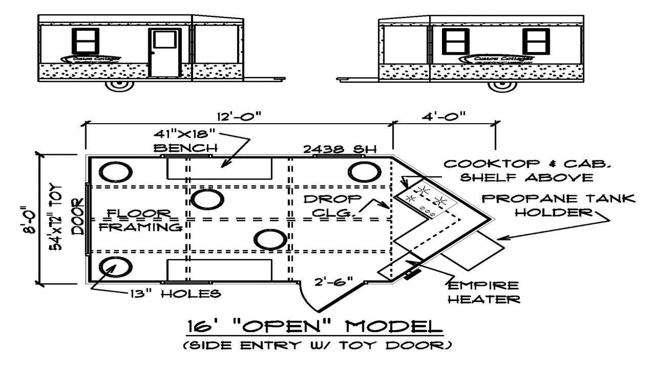 Weight of a fish house ice fish house floor plans hunting for Hunting shack floor plans