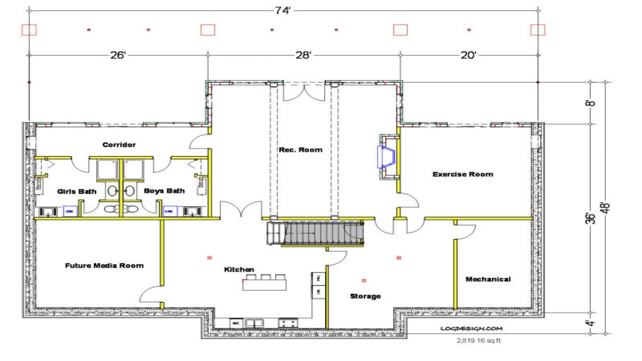 Home floor plans with dimensions home floor plans with for Basement planner online