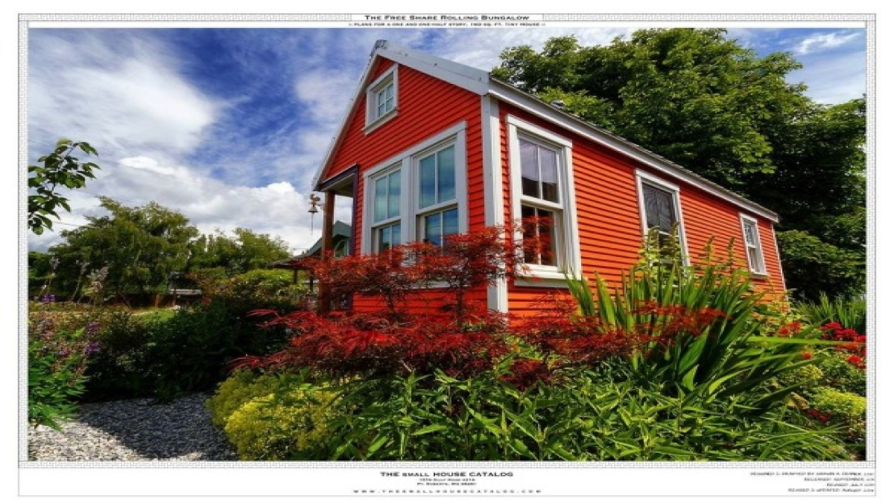 Free tiny house plans 160 sq ft rolling bungalow tiny for Tiny bungalow plans