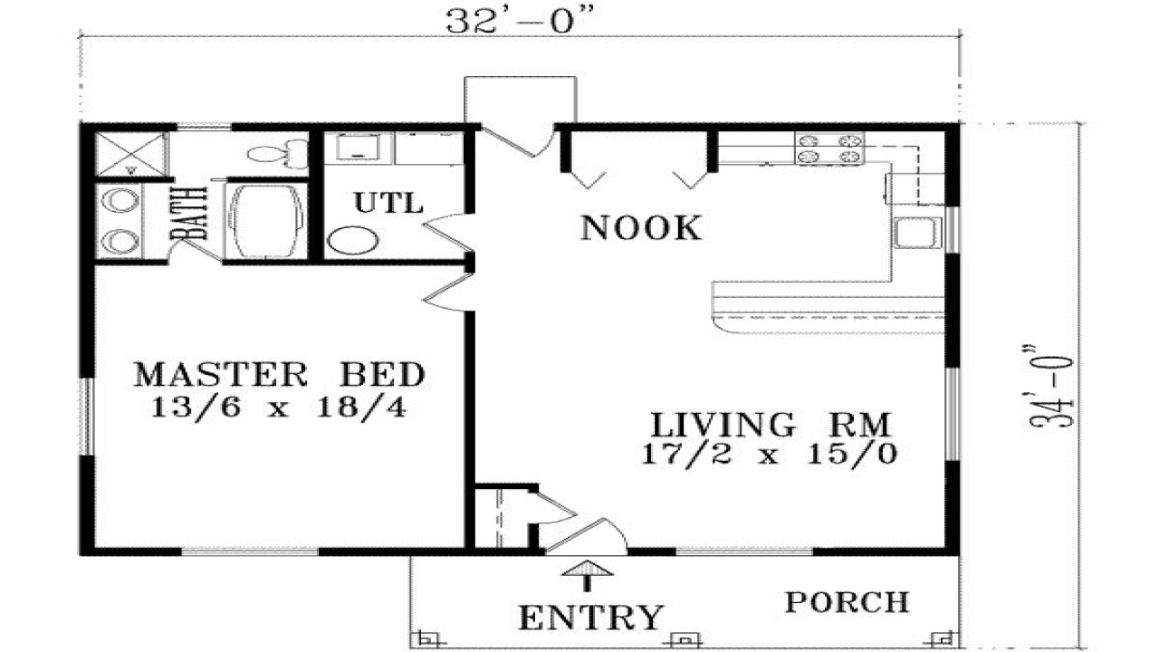 1 Bedroom House Plans With Garage 3 Bedroom 2 Bath House