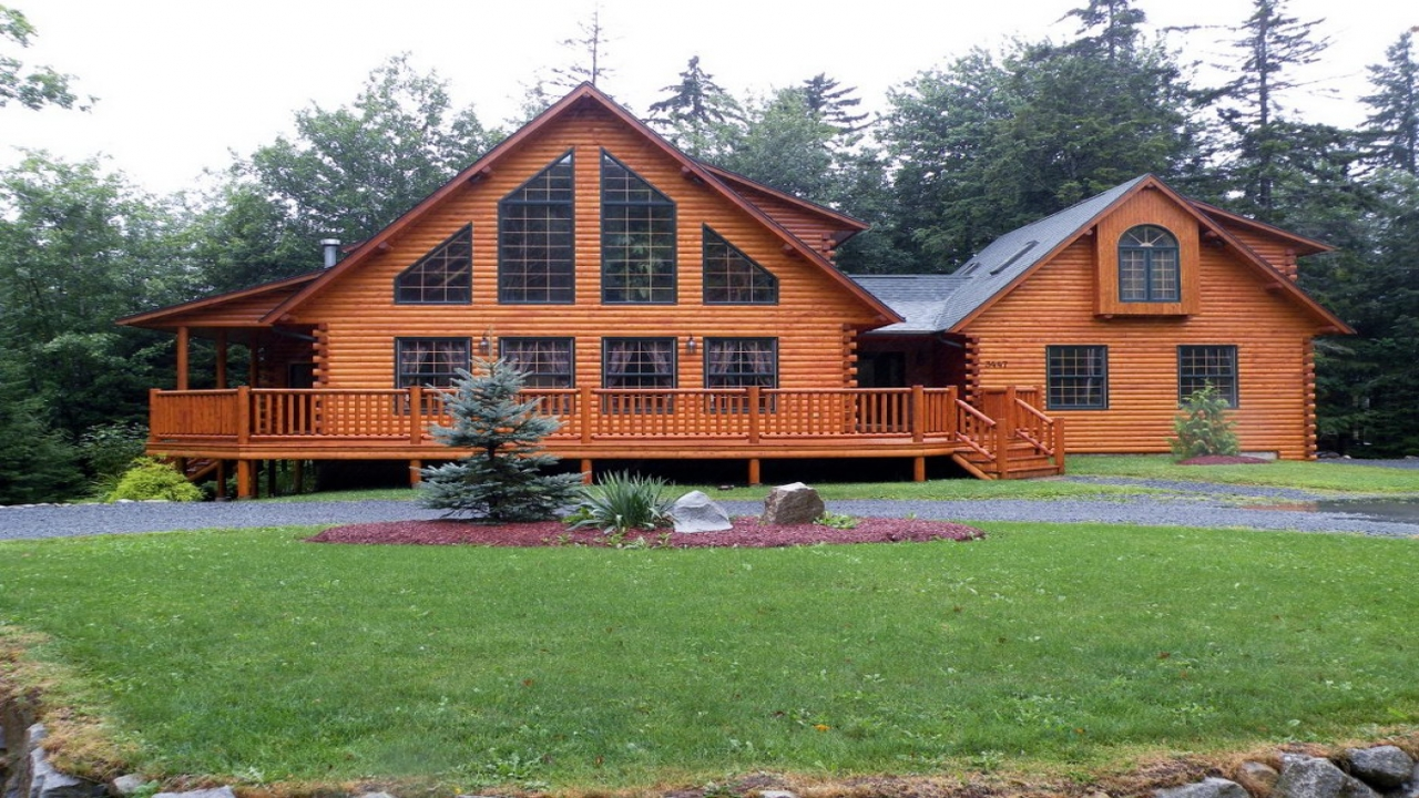 Log Sided Double Wides Double Wide Log Cabin Homes Home