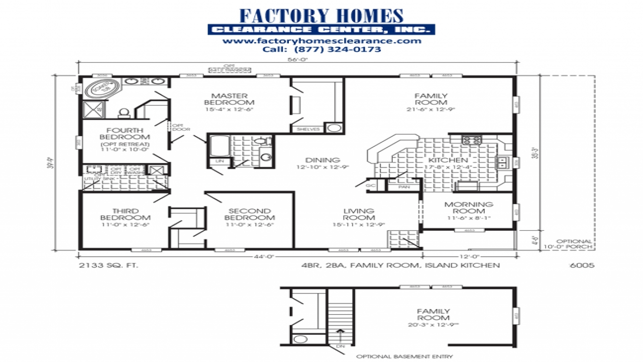 Clayton triple wide mobile homes triple wide mobile home for Home builders floor plans