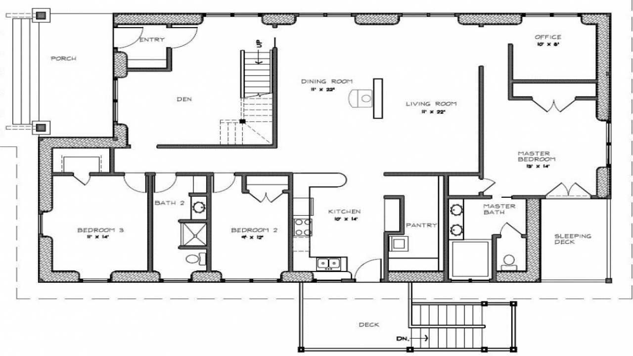 Two bedroom house plans with porch 3 bedroom 2 bath house for 3 bedroom 2 5 bath house plans