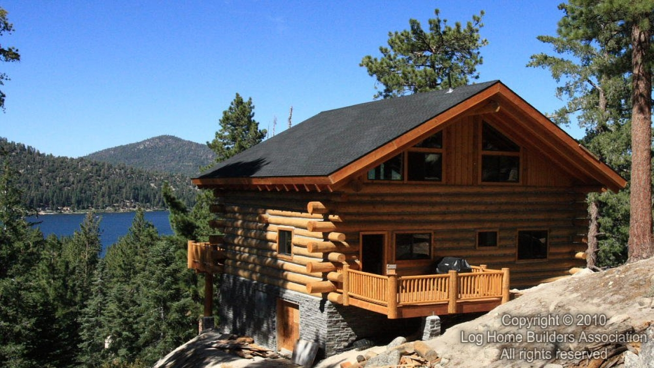 Log cabin home building kits building a real log cabin for Anthony lakes cabin rentals