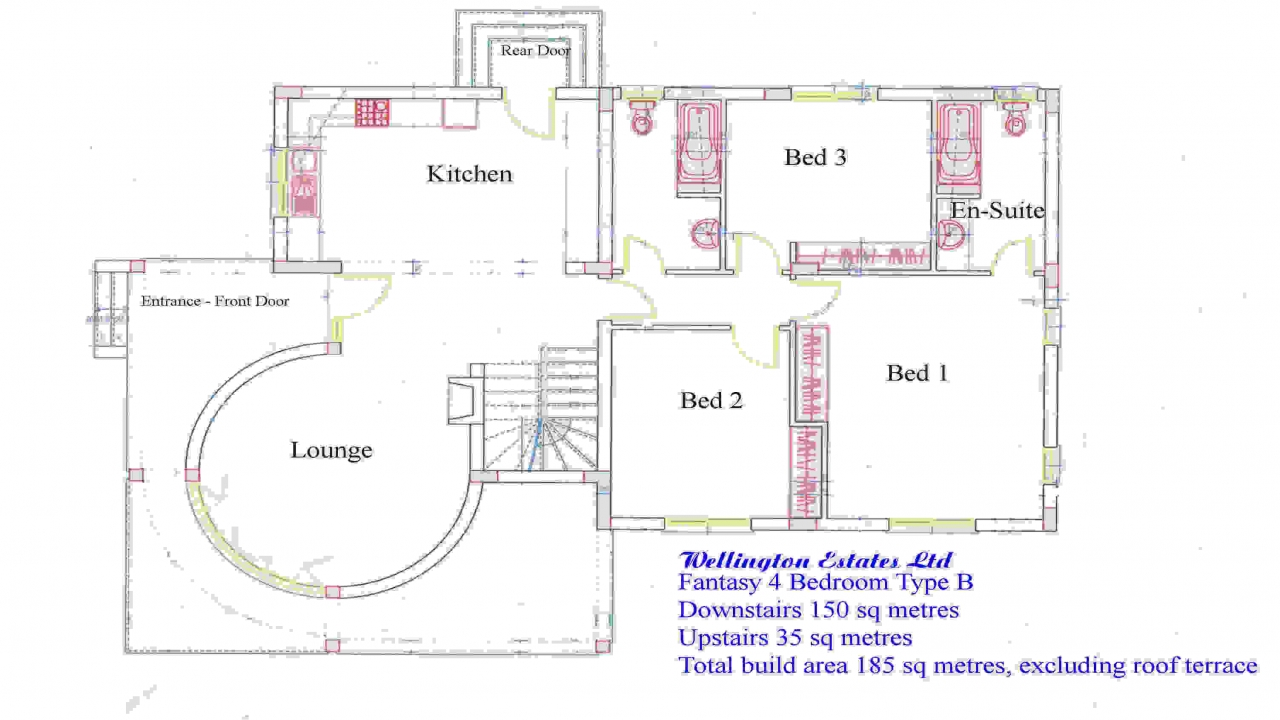 Affordable 4 bedroom house plans 4 bedroom bungalow floor for Affordable bungalow house plans