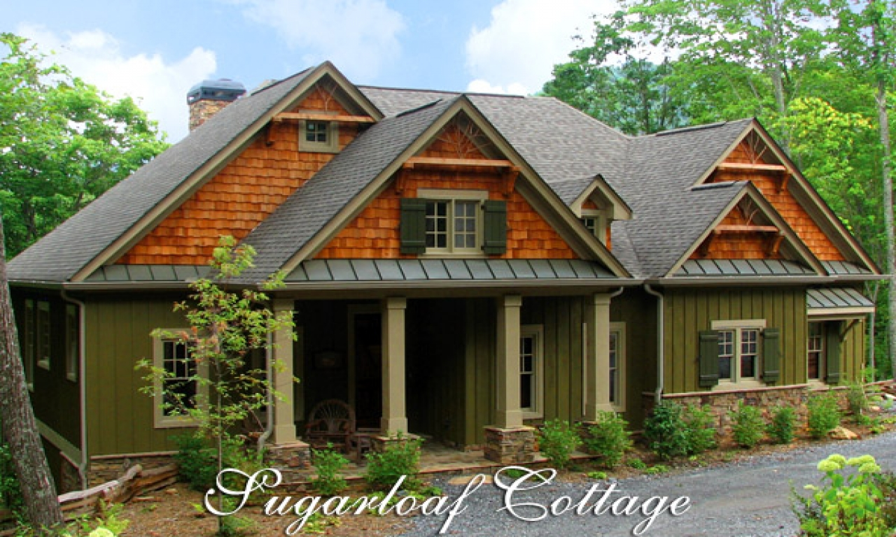 Mountain cottage house plans cottage house plans with for Home designs with turrets