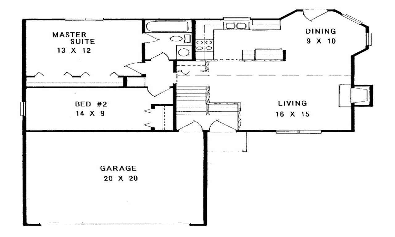 Simple small house floor plans simple small house floor for Basic home floor plans