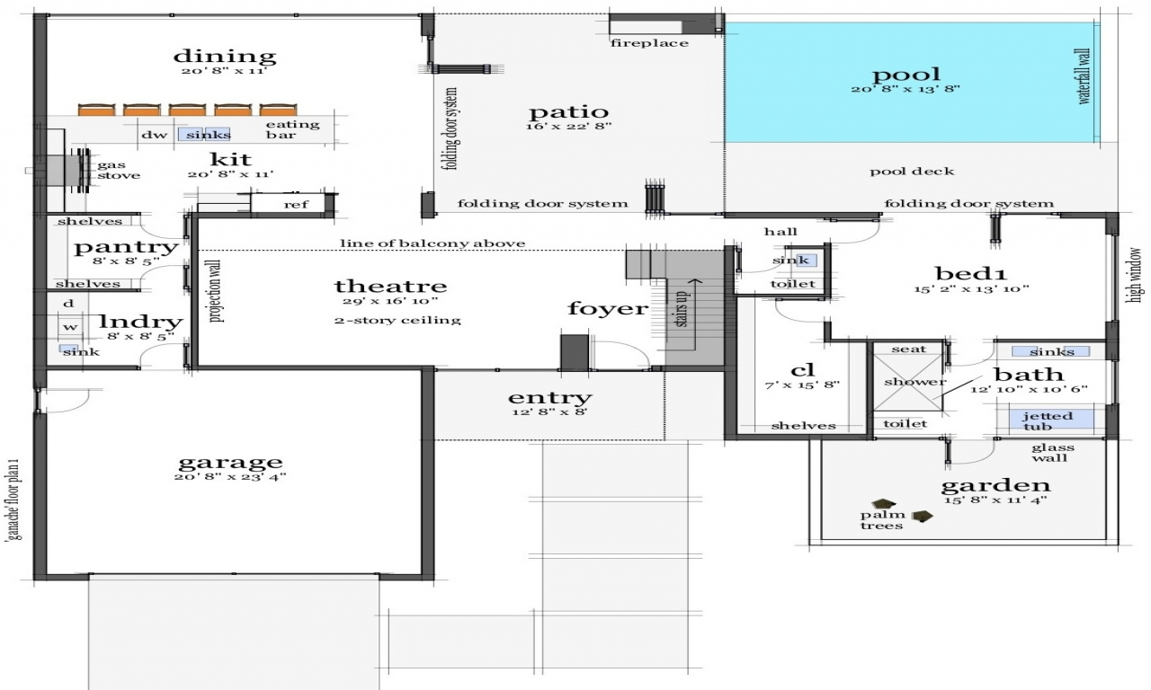 Modern homes modern beach house floor plans house plans Modern beach house plans