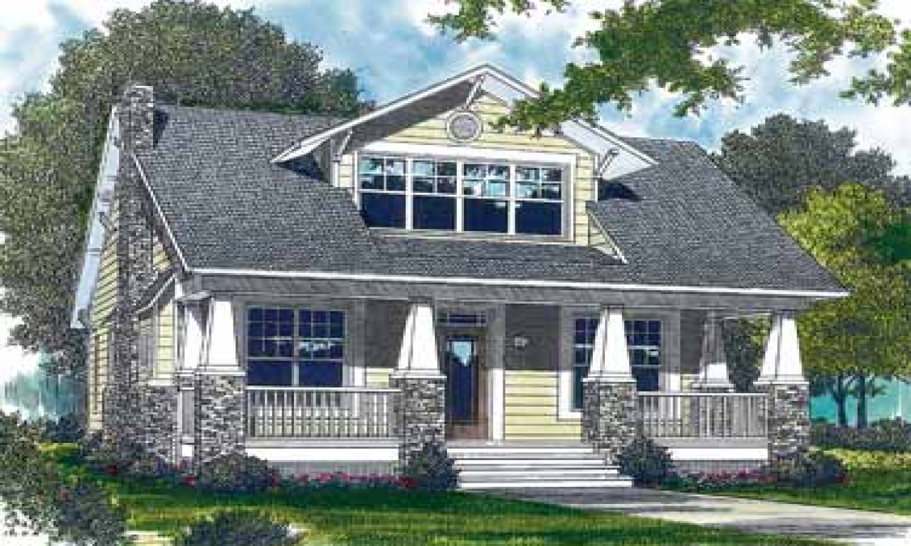 Craftsman style bungalow house plans craftsman style porch for Craftsman style columns