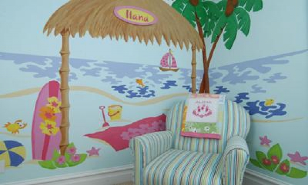 Hawaiian theme girls bedroom ideas tropical bedroom theme for Hawaiian themed bedroom designs
