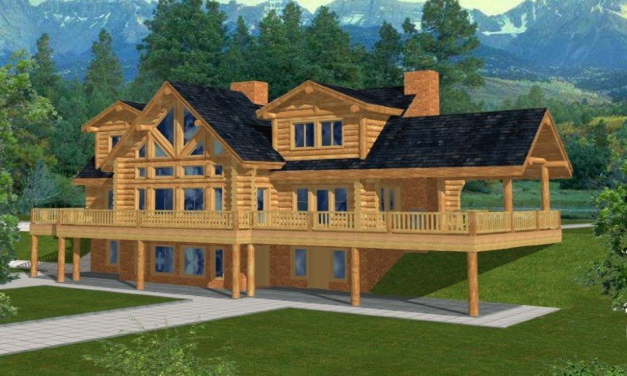 Log home magazine log cabin homes and houses log home for Log home plans canada