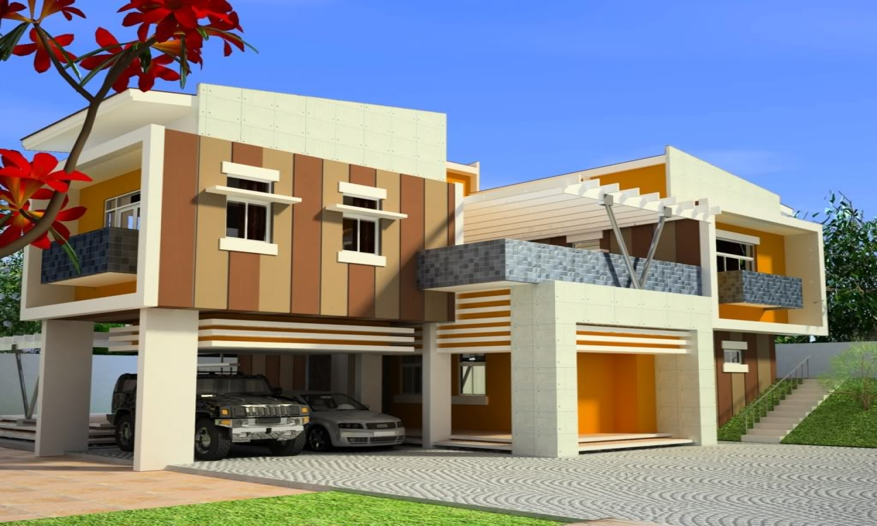 Modern house design modern tropical house design front of for Post modern home design