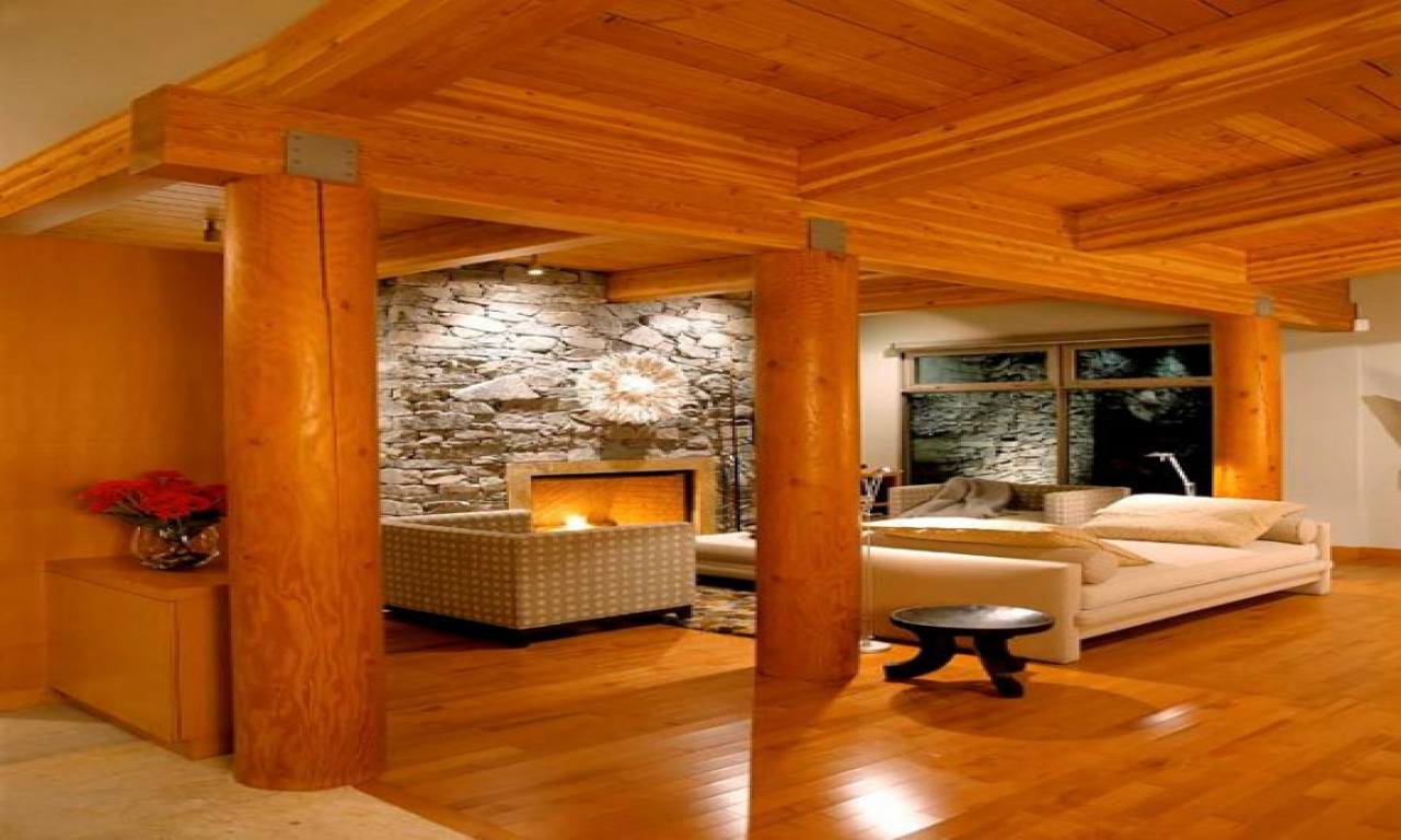 Modern log cabin designs modern log home interiors log for Contemporary log home designs