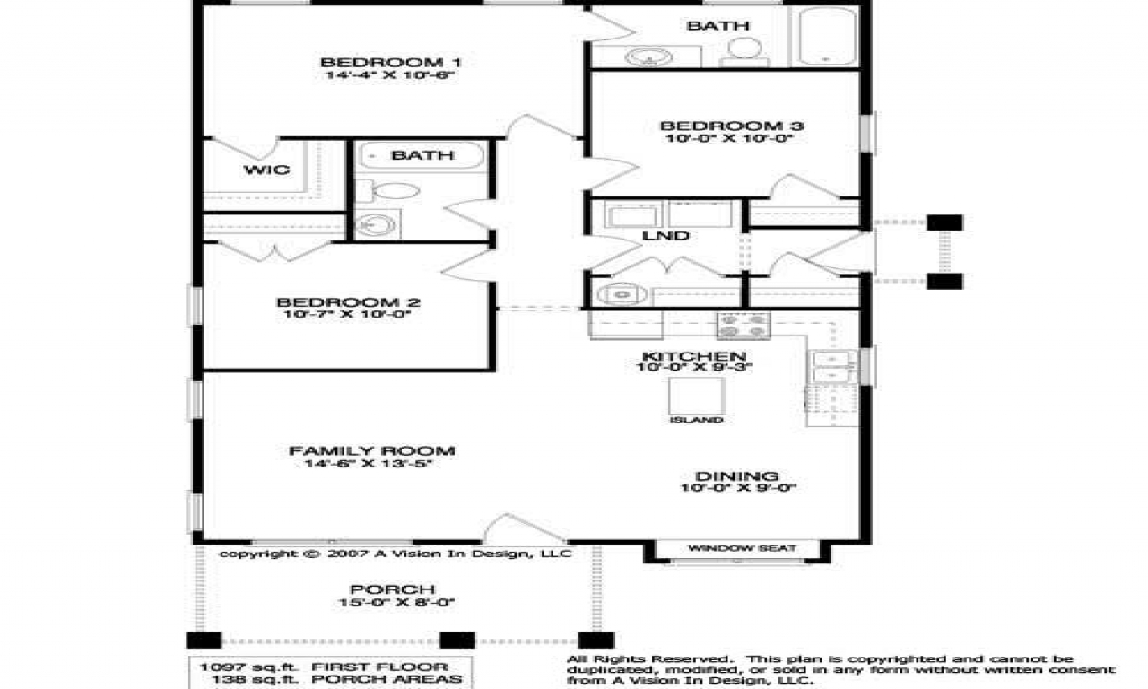 Simple small house floor plans with dimension simple small for Simple cabin plans 24 by 24