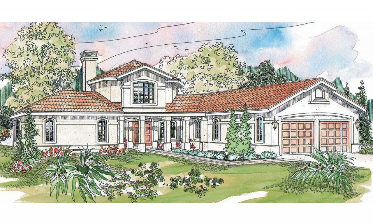 Spanish courtyard house plans spanish style house plans for Spanish style home plans with courtyard