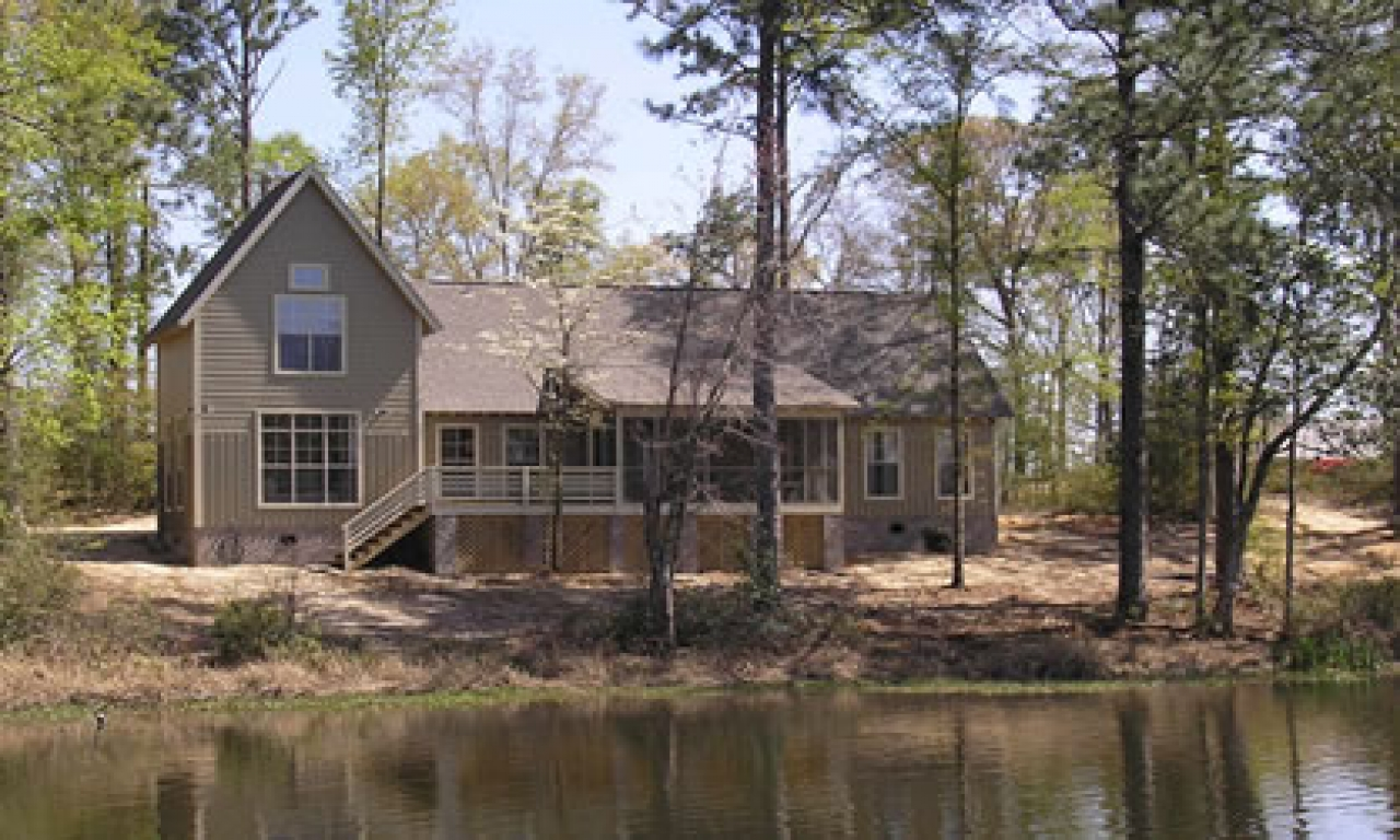 Lakefront narrow lot floor plans lakefront home floor for Narrow lake house plans