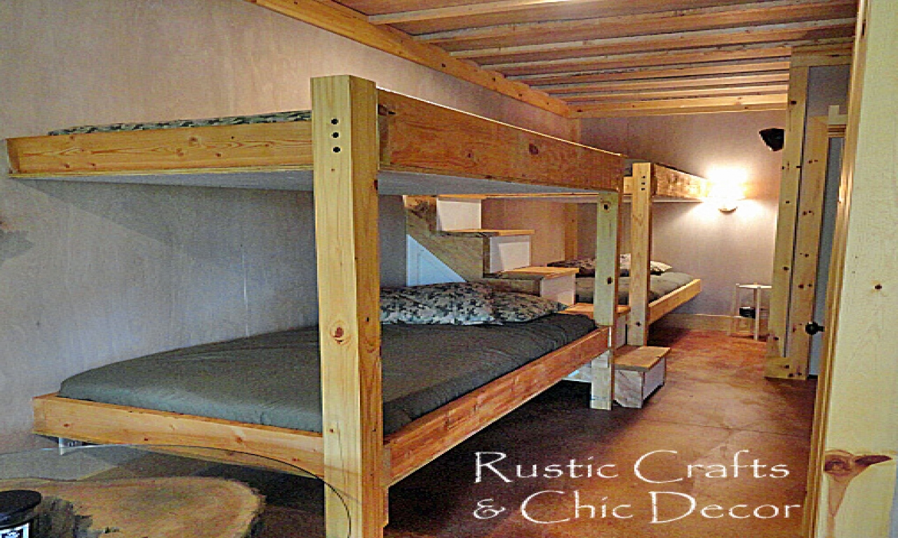 Cowboy Bunkhouse Plans Cabin Bunk Bed Plans Cabin Bed