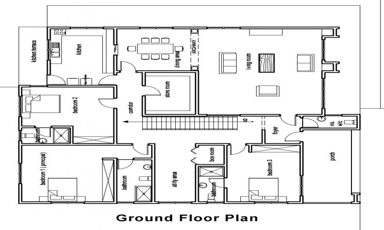 Ghana house plans architectural designs house plans in for Architectural house floor plans