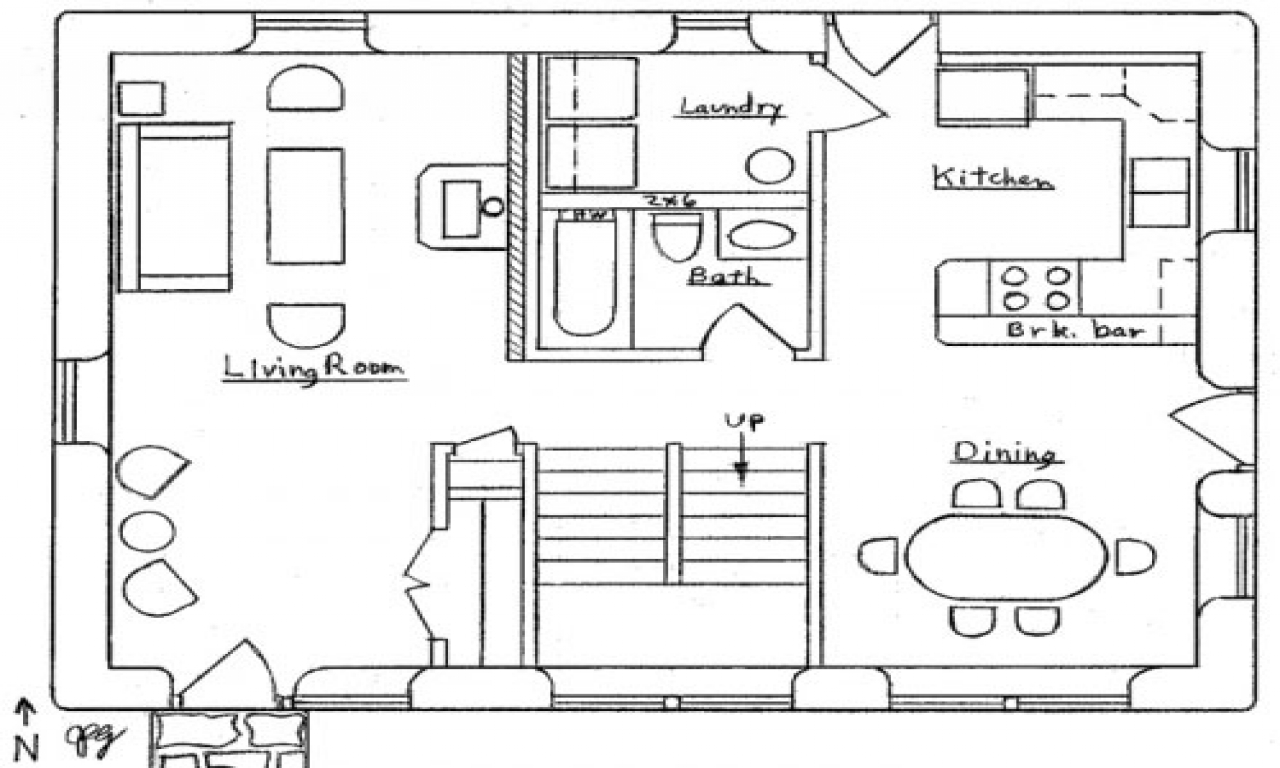 simple small house floor plans cottage floor plan  small