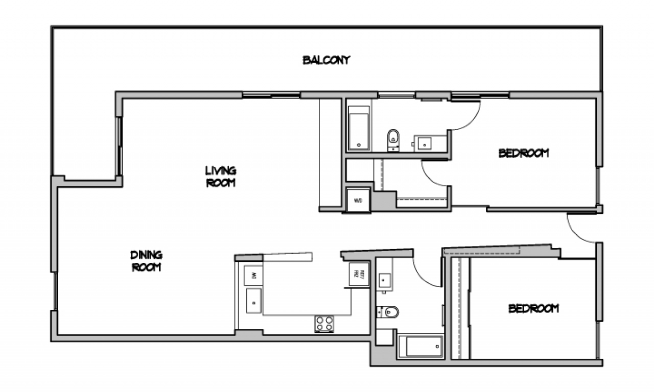 Modern open floor plans contemporary floor plan for Modern open floor house plans
