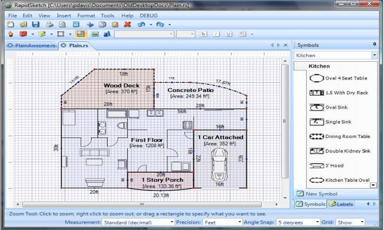 Simple floor plan software floor plan design software free for Free floor design software
