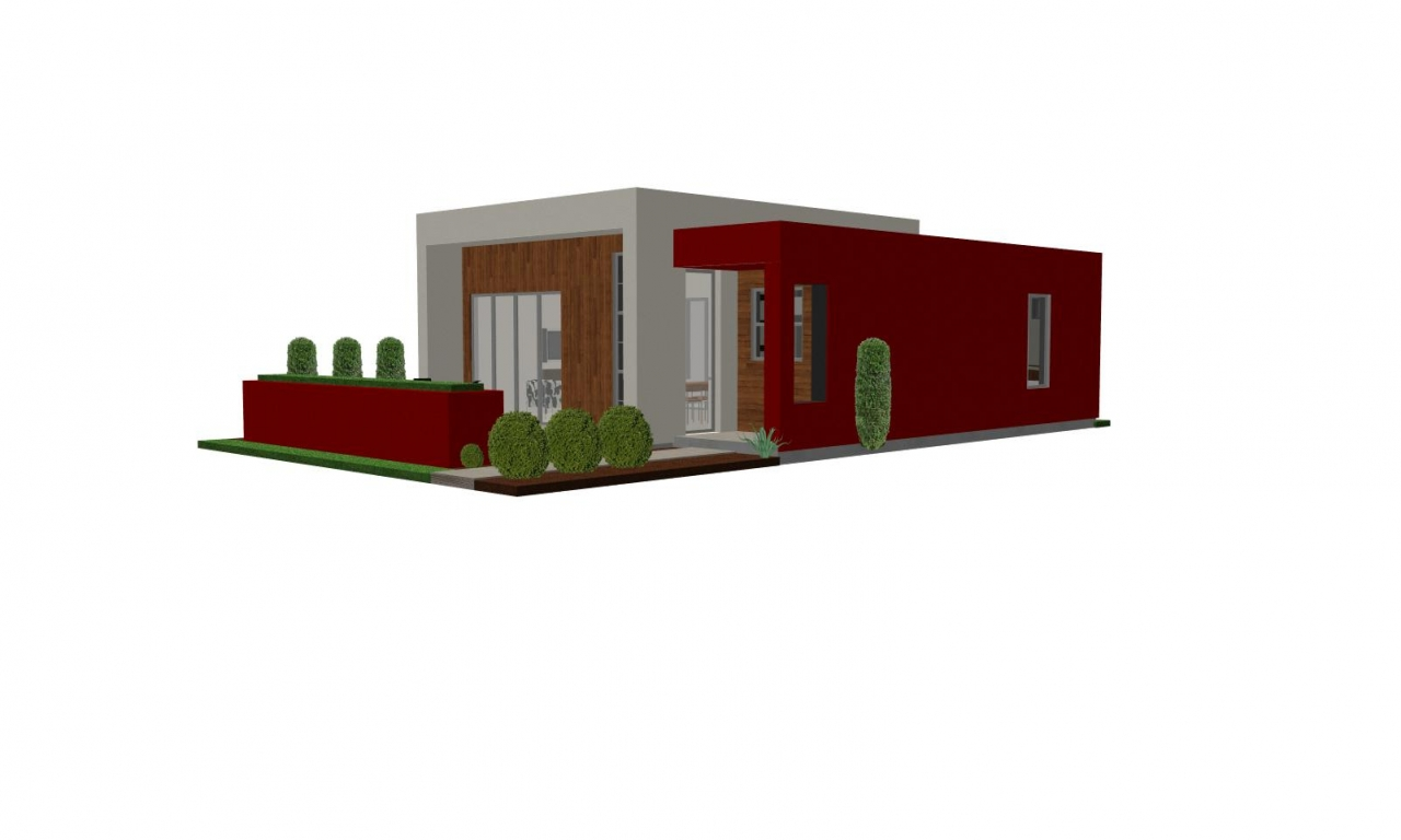 Contemporary casita house plan small house plan small for Home plans with detached guest house