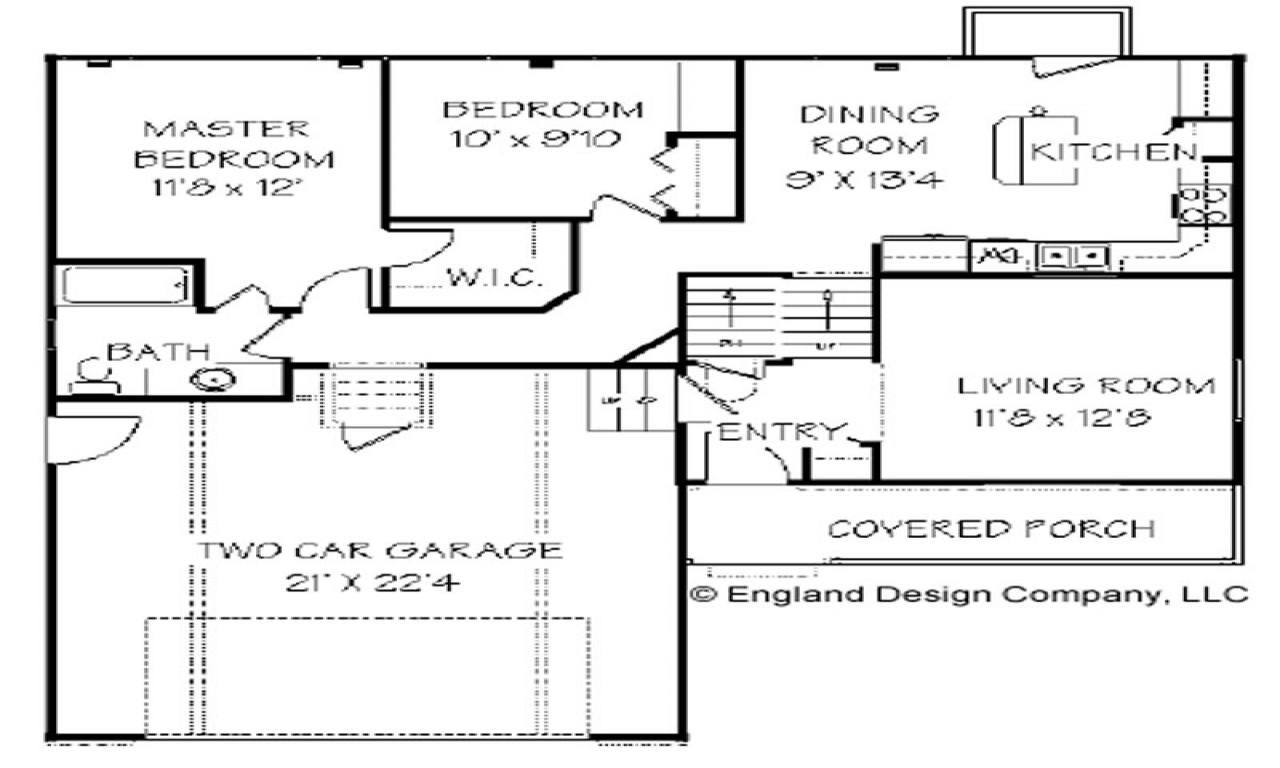 Modern ranch house plans ranch house plans from for One level floor plans