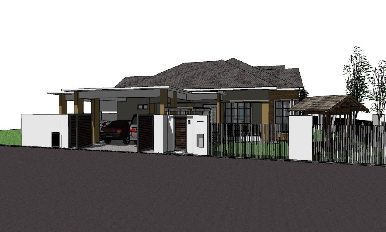Single storey bungalow mampu milik satu malaysia 1 single for Single storey home designs