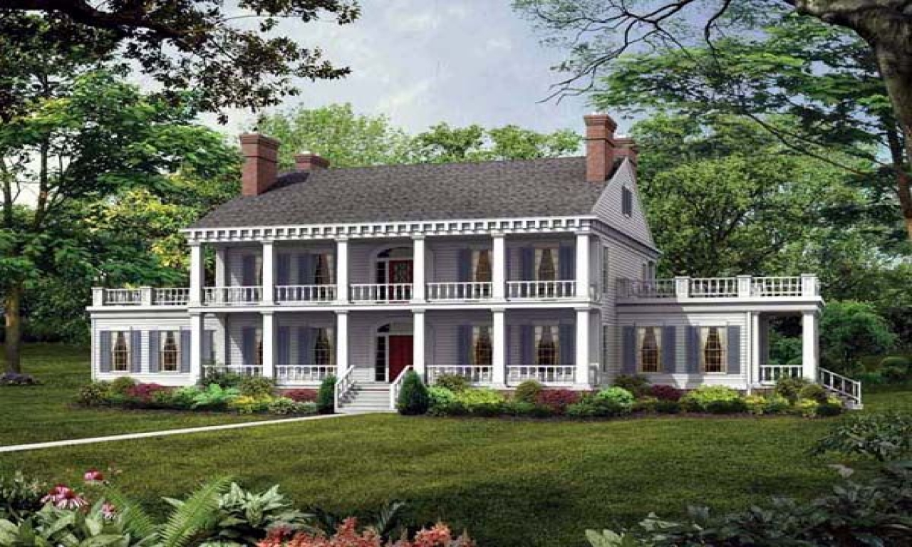 Southern plantation style house plans antebellum style for Southern style ranch home plans