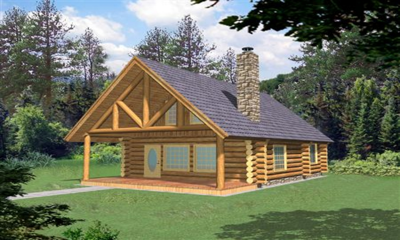 Small log cabin homes plans small log cabin interiors log for Log cabin plans canada