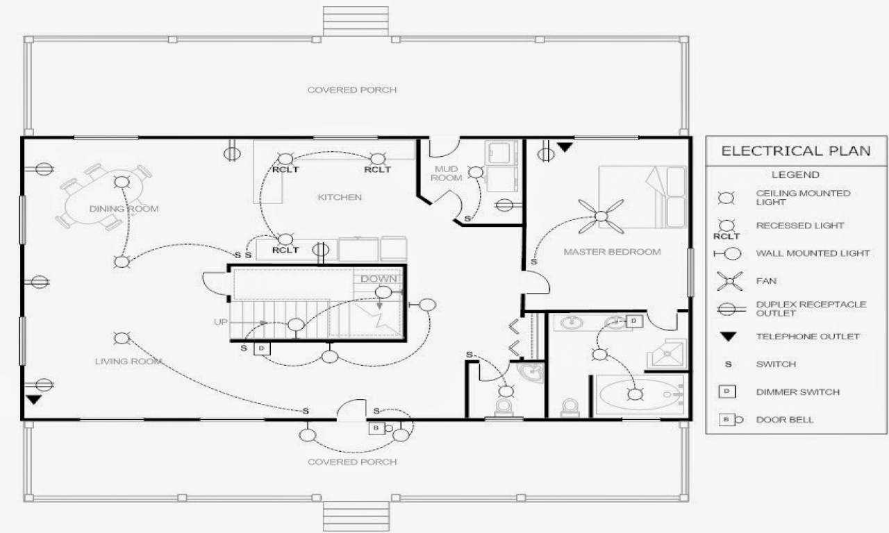 electrical floor plan drawing electrical blueprints  engineering plan for home