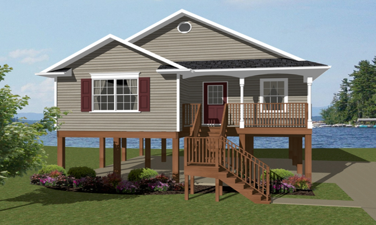 Elevated Beach House Plans One Story House Plans Coastal