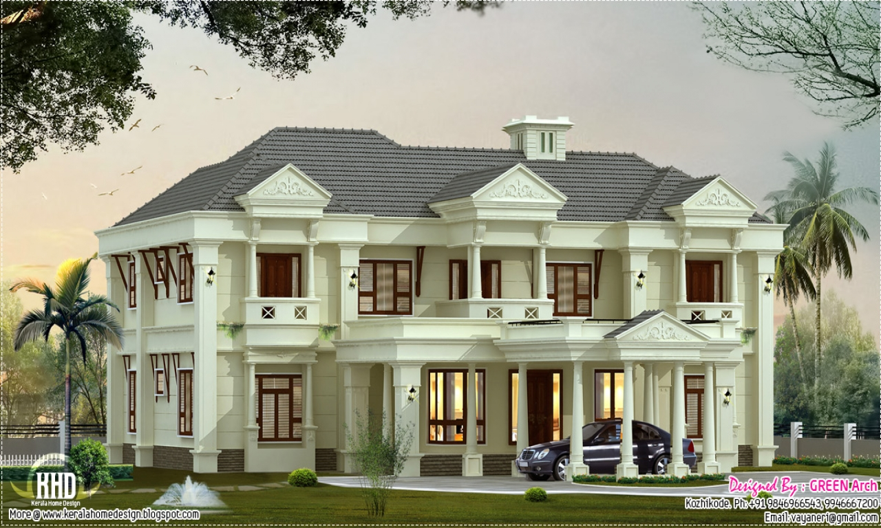 Luxury villa design luxury beach homes villa plans for Beach style home plans