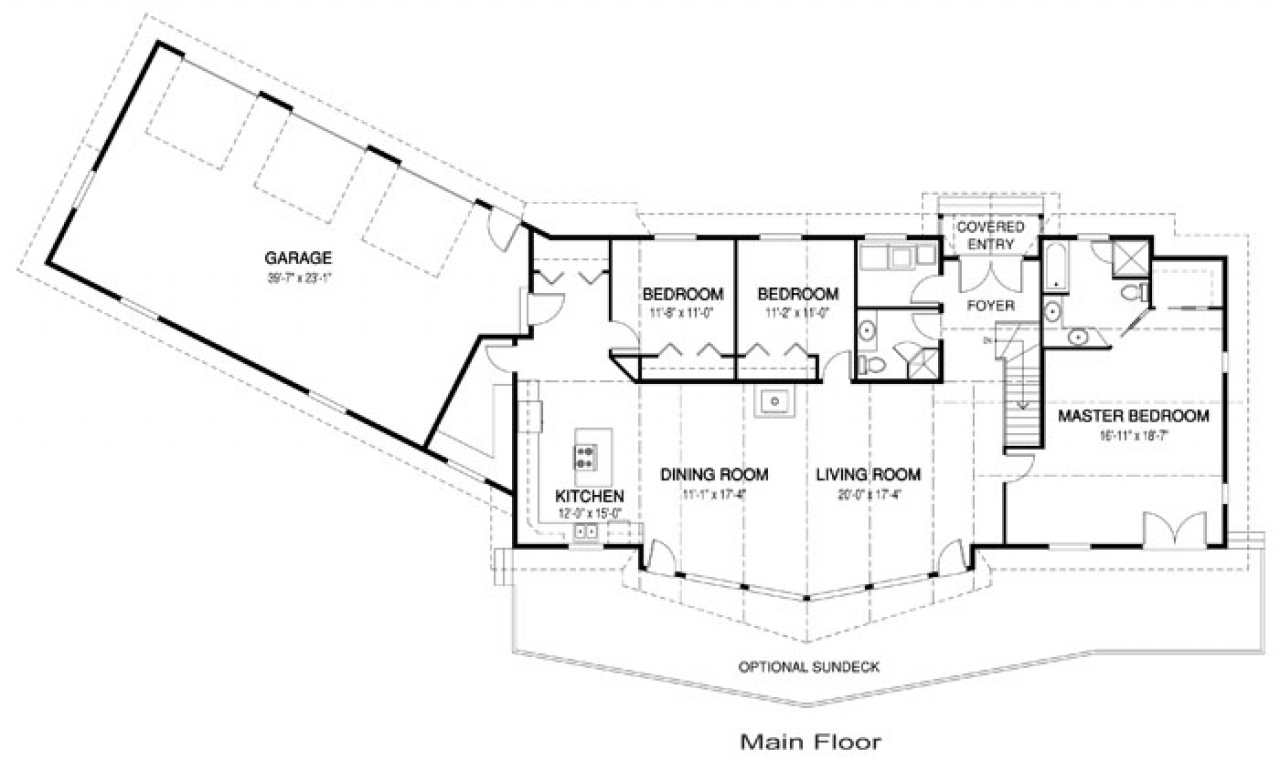 One level ranch style home floor plans luxury one level house plans single level house designs for Executive home plans designs