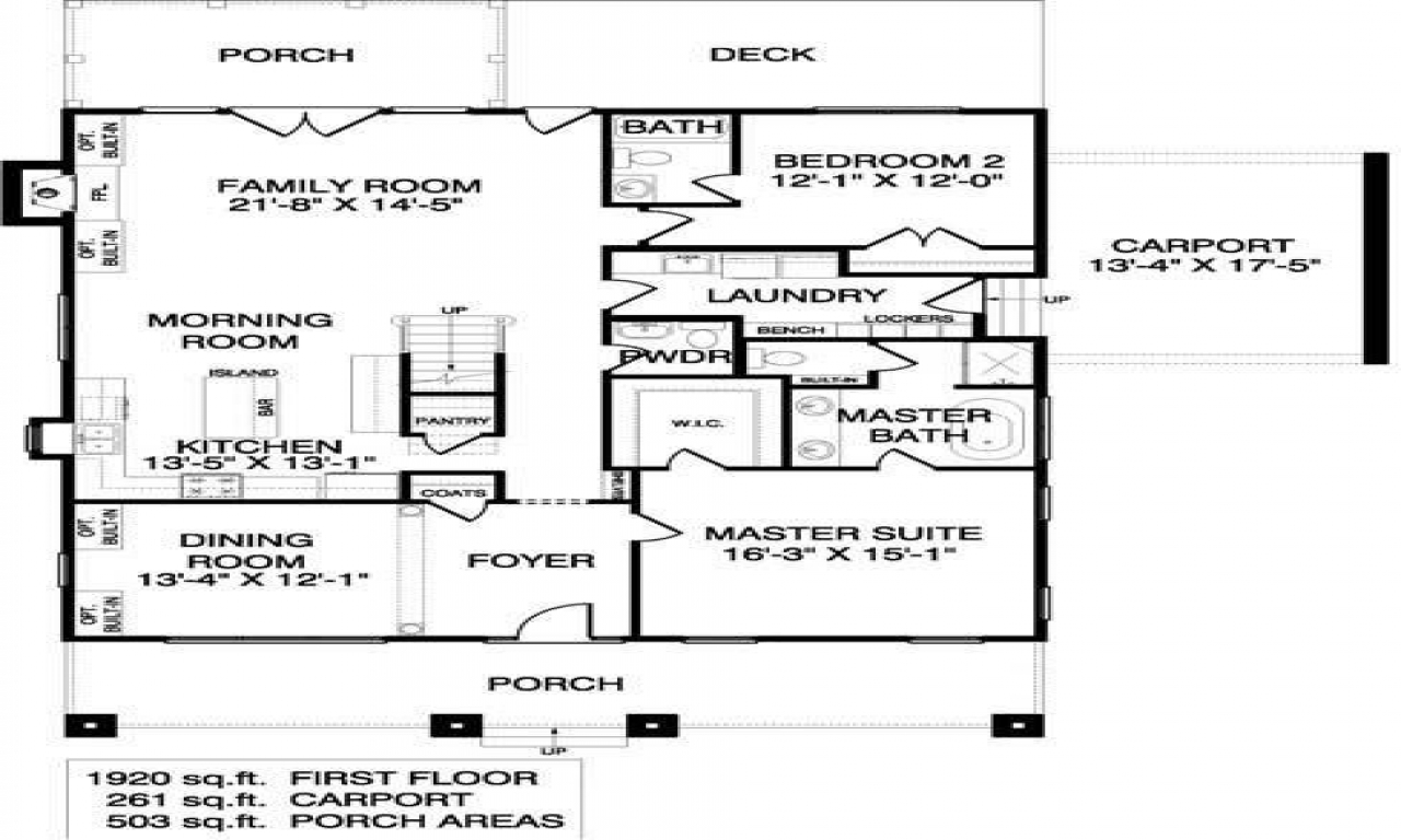 Bungalow House Plans With Porches 1920s Bungalow Floor