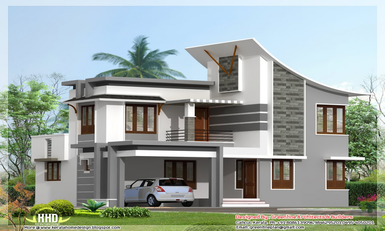 Modern bungalow house modern 3 bedroom house contemporary for Modern house 3