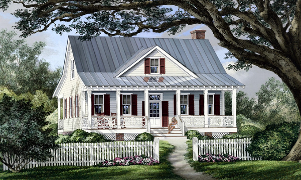 Tiny Home Designs: Cottage Country Farmhouse Plan French Country Farmhouse