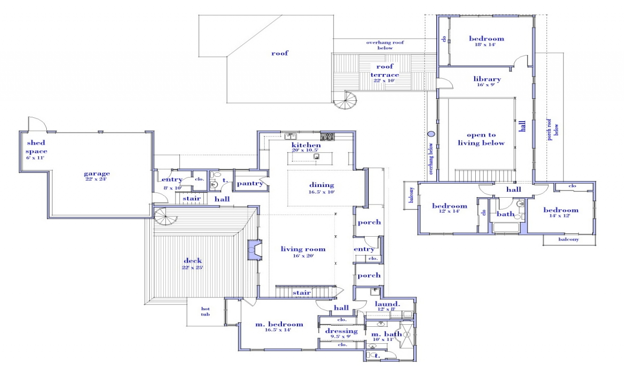 Modern 2 story house floor plan simple two story house for Simple two story house design