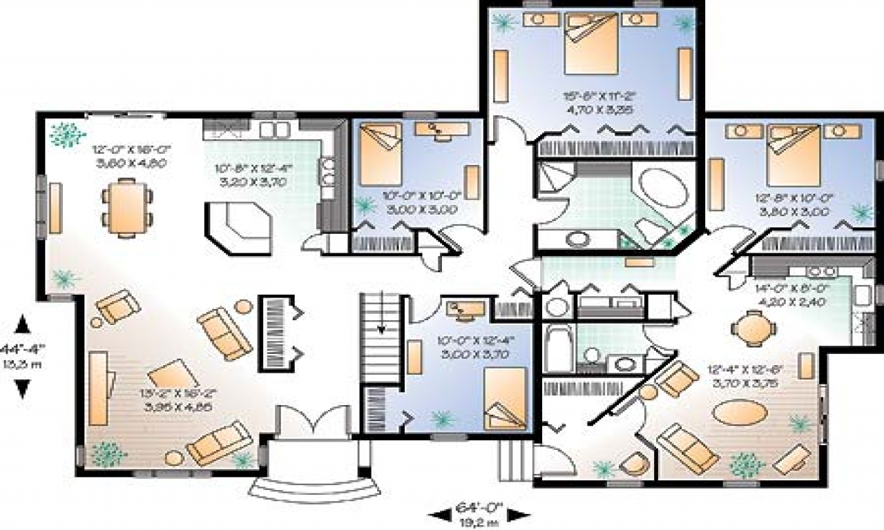 Large floor plans luxury estate floor home house plans for Www house plans com
