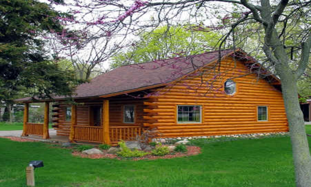 Log cabin kit homes pre built log cabins simple cabins for Kit build homes