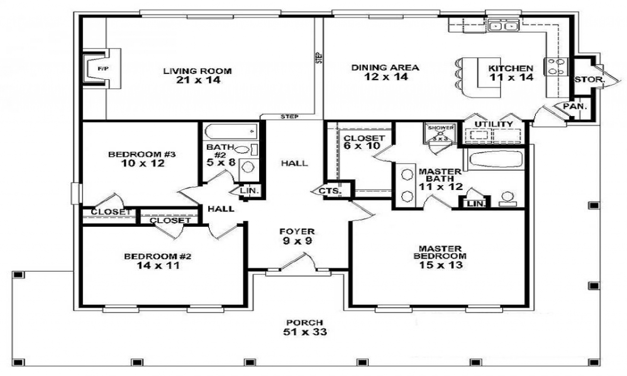 One story farmhouse designs single story farmhouse house for Single story floor plan