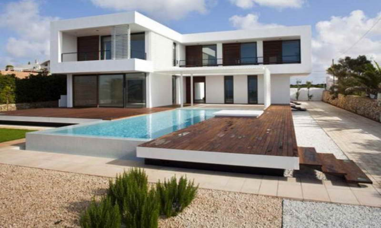 Contemporary house plans with pool small modern for Modern house plans with pool