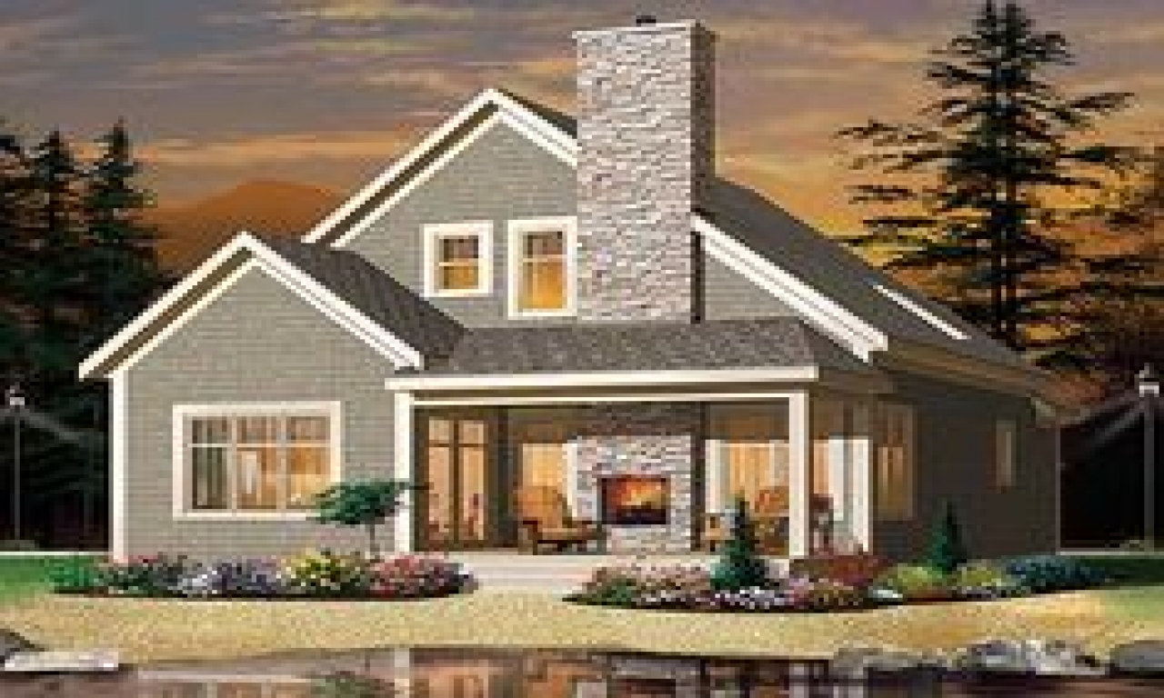 Cottage house plan with fireplaces cottage living house for House plans with fireplace