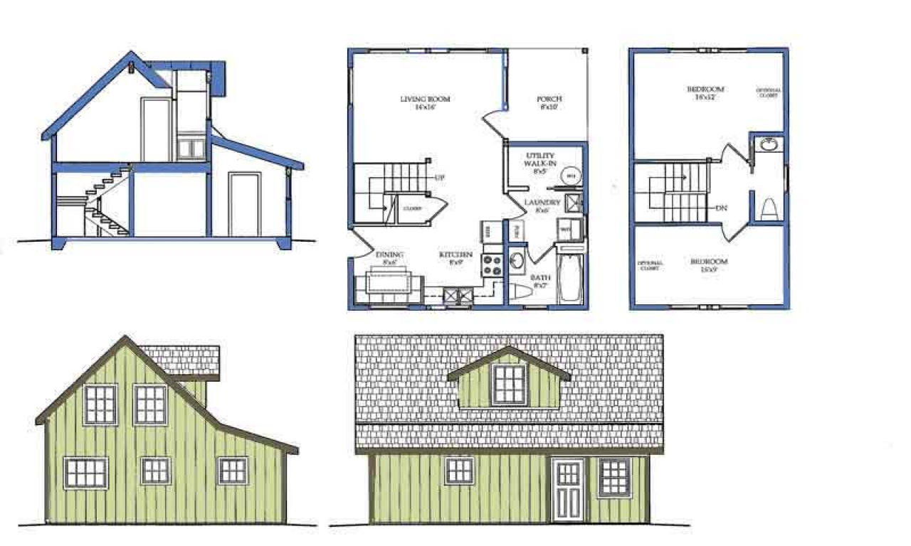 Small house plans with loft bedroom modern small house for Small modern house plans with loft