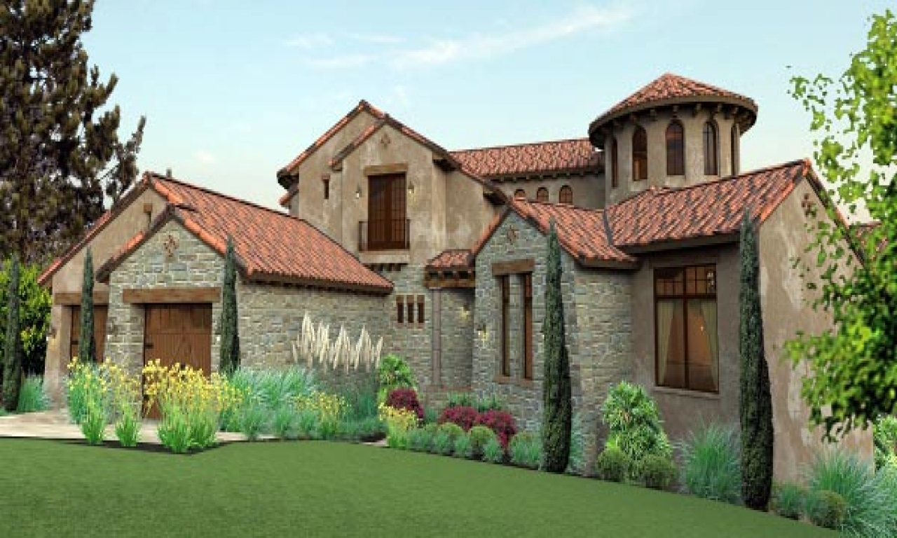 Tuscan home plans with courtyards tuscan mediterranean for Tuscan home plans