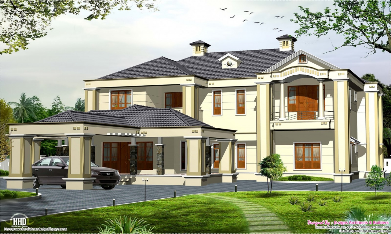 Modern house designs colonial style colonial style house for Modern colonial house plans
