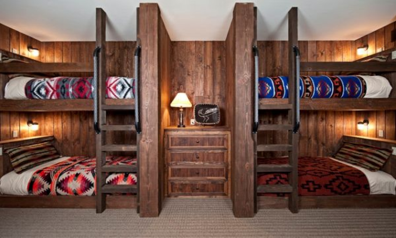 Bunk Beds Built Into Wall Cabin Built In Bunk Bed Cabin