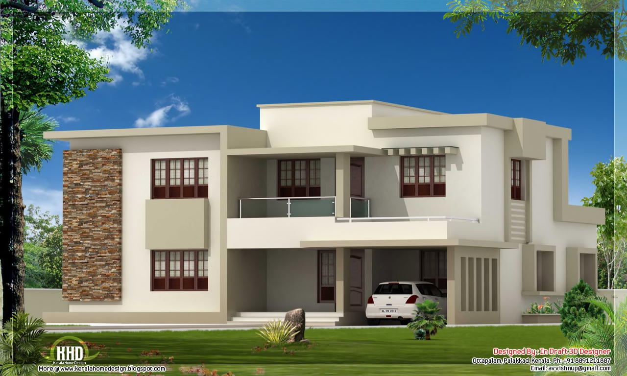 Flat roof modern house designs contemporary house plans for Modern house design with rooftop