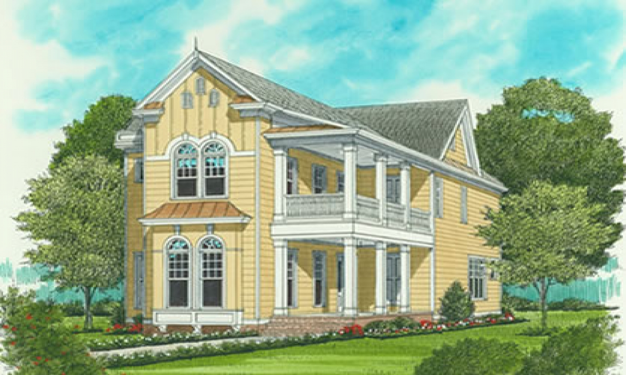 Narrow lot house plans with front garage narrow lot house for Charleston house plans narrow lots